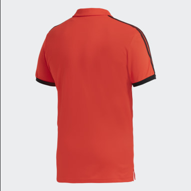 Polera con Cuello 3 Tiras River Plate Rojo Hombre Fútbol