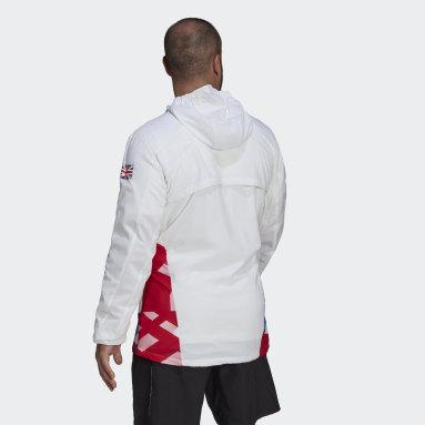 Men Gym & Training White Adizero Marathon Jacket