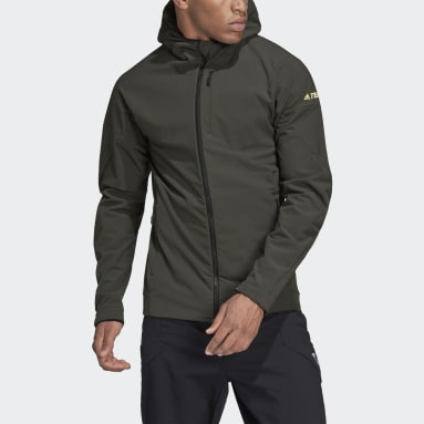 Men TERREX Green Terrex Hi-Loft Hooded Soft Shell Jacket
