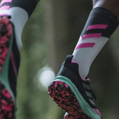 Terrex Alphaskin Primegreen Graphic mellomhøye sokker Hvit