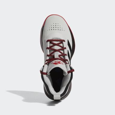 Children Basketball Grey Cross Em Up 5 Wide Shoes
