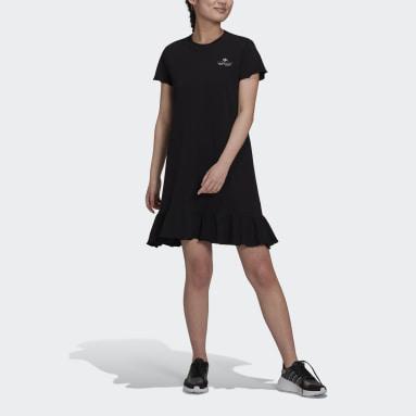 Women Originals Black Triple Trefoil Ruffle Dress
