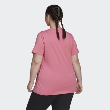T-shirt Essentials (Plus Size) Rosa Mulher Sportswear
