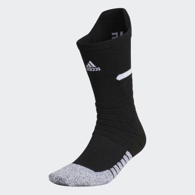 Football Black Adizero Football Cushioned Crew Socks