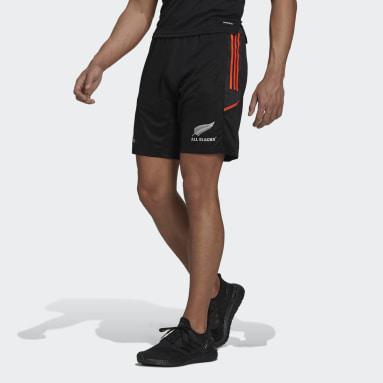 Men Rugby Black All Blacks Primeblue Rugby Gym Shorts