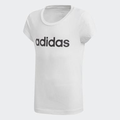 Camiseta Essentials Linear Blanco Niño Training