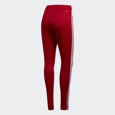 Pantaloni da allenamento Tiro 19 Rosso Donna Calcio