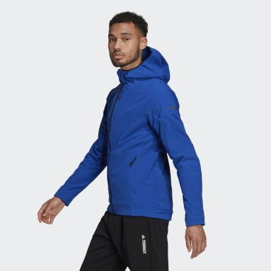 Mænd TERREX Blå Terrex Hi-Loft Hooded Soft Shell jakke