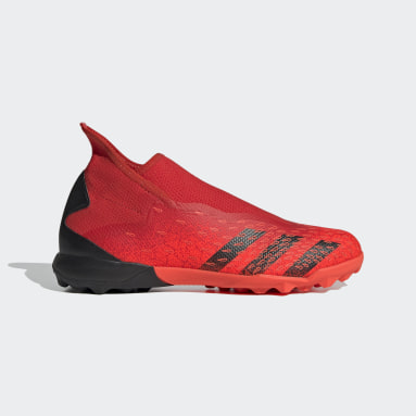 Zapatilla de fútbol Predator Freak.3 Laceless moqueta Rojo Fútbol
