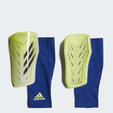 Football Yellow X Pro Shin Guards