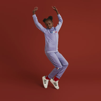 Youth 8-16 Years Originals Purple Adicolor Tracksuit Bottoms