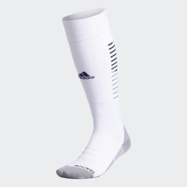 Training White Team Speed Soccer OTC Socks