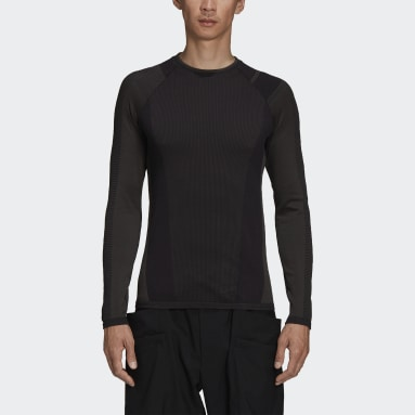 Mænd Y-3 Sort Y-3 Classic Knit Base Layer Long Sleeve T-shirt