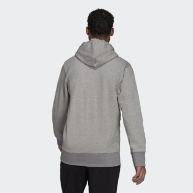 Men Sport Inspired Grey adidas Sportswear Comfy & Chill Full Zip Hoodie