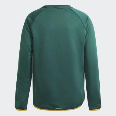Blusa Moletom adidas Designed To Move Big Logo Verde Meninos Training