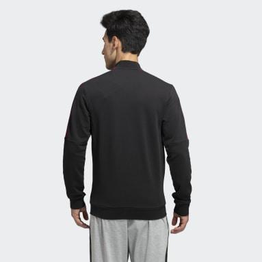 Men Sportswear Black 3-Stripes Tape Track Top