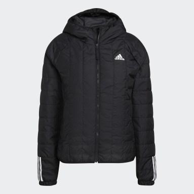 Women City Outdoor Black Itavic 3-Stripes Light Hooded Jacket