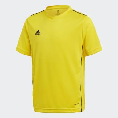 Camiseta entrenamiento Core 18 Amarillo Niño Fútbol