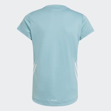 Camiseta AEROREADY 3 bandas Verde Niña Gimnasio Y Entrenamiento