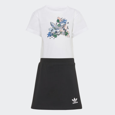 Conjunto camiseta y falda pantalón HER Studio London Animal Flower Print Blanco Niña Originals