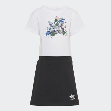 Children Originals White HER Studio London Animal Flower Print Skort and Tee Set