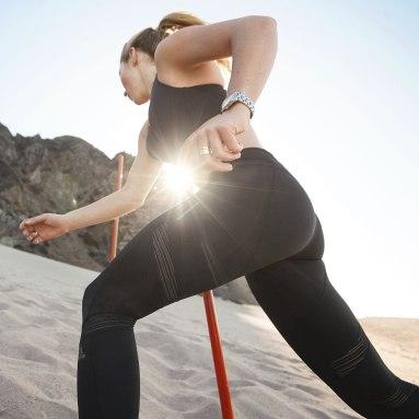 Licras 7/8 How We Do - Cintura Alta Negro Mujer Running