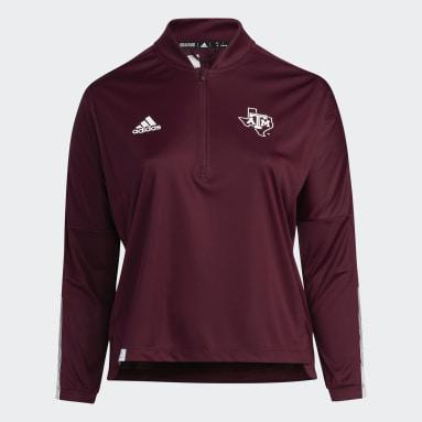 Women's Training Multi Aggies Long Sleeve Quarter-Zip Knit Plus Sweatshirt