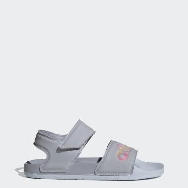 Women's Yoga Grey Adilette Sandals