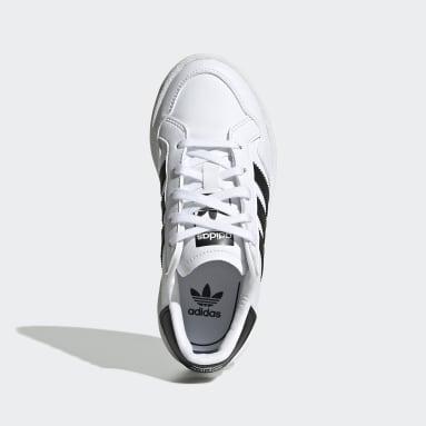 Kinder Originals Team Court Schuh Weiß