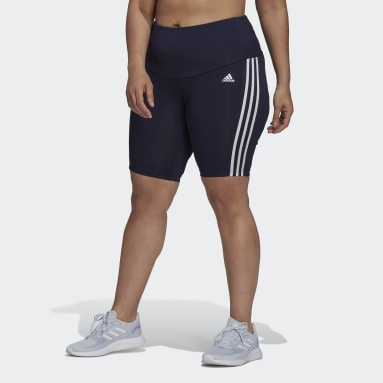 Women HIIT Blue Designed 2 Move High-Rise Sport Short Tights (Plus Size)