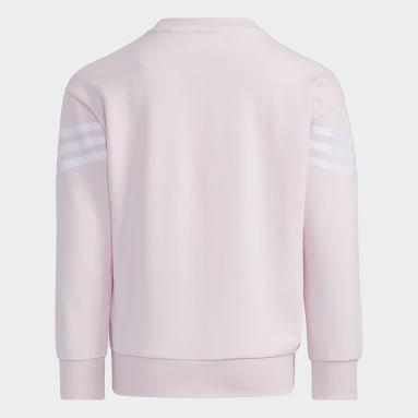 Barn Gym & Träning Rosa Graphic Crewneck Sweatshirt