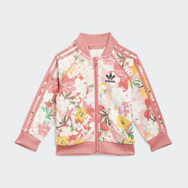 Conjunto chaqueta y pantalón HER Studio London Floral SST Rosa Niña Originals