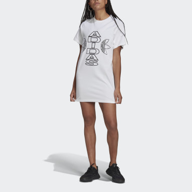 белый Платье-футболка Varsity