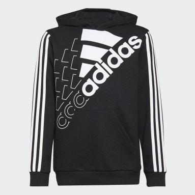Kids Sportswear Black adidas Essentials Logo Hoodie (Gender Neutral)