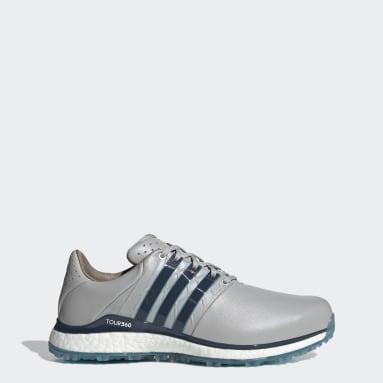 Men Golf Grey TOUR360 XT-SL Spikeless 2.0 Wide Golf Shoes
