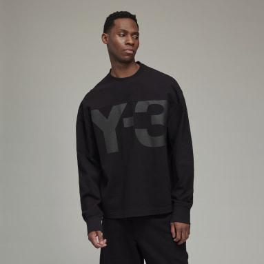 Men's Y-3 Black Y-3 Classic Heavy Piqué Crew Sweatshirt