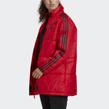 Women City Outdoor Red Insulated Jacket