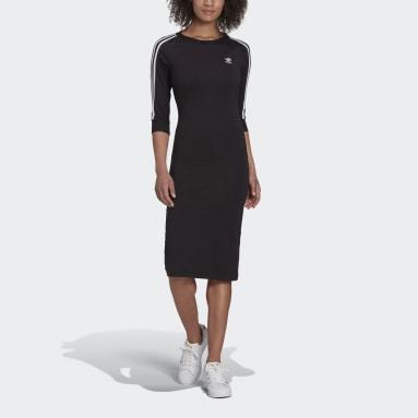 Ženy Originals černá Šaty Adicolor Classics