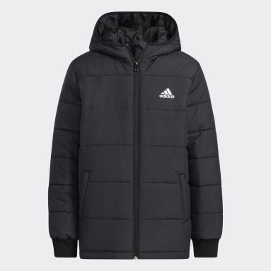 Youth 8-16 Years Gym & Training Black Padded Winter Jacket