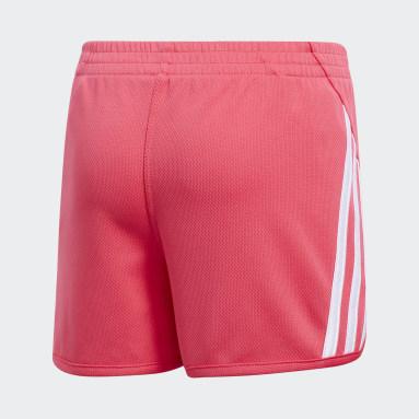 Youth Training Pink 3-Stripes Mesh Shorts