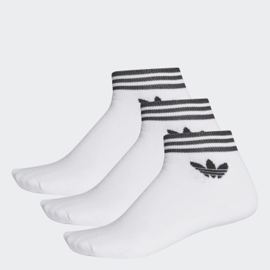 Originals Beyaz Trefoil Bilek Boy Çorap 3 Çift