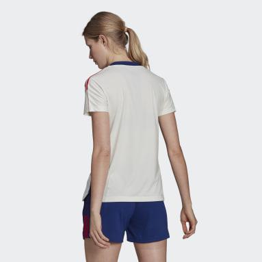 Camiseta entrenamiento Olympique de Lyon Tiro Blanco Mujer Fútbol