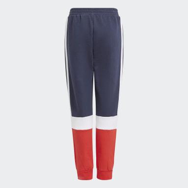 Boys Lifestyle Blue adidas Essentials Colorblock Pants