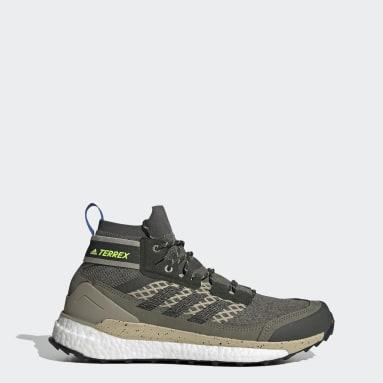 Zapatillas de Senderismo Terrex Free Hiker Verde Hombre TERREX