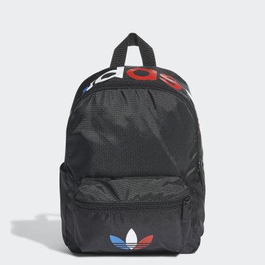 Kids 4-8 Years Originals Black Adicolor Tricolor Mini Backpack