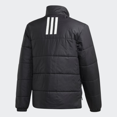 Men's Lifestyle Black BSC 3-Stripes Insulated Winter Jacket