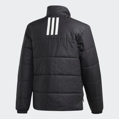 Heren City Outdoor Zwart BSC 3-Stripes Insulated Winterjack