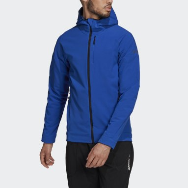 Männer TERREX TERREX Hi-Loft Hooded Softshell Jacke Blau