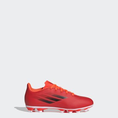 Children Soccer Red X Speedflow.4 Flexible Ground Cleats