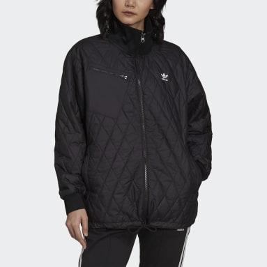 Women Originals Black Adicolor Classics Quilted Jacket